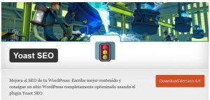 Captura de pantalla del plugin Yoast SEO en WordPress