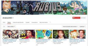 Captura de pantalla de el canal de ElRubius, que tiene más de 24 millones de suscriptores / Los «YouTubers», la atomización y la economía dependiente