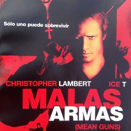 Malas armas (Albert Pyun, 1997) - Carátula de la edición española distribuida en quioscos por la revista TIEMPO.
