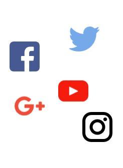 Logotipos de Facebook, Twitter, Google +, YouTube e Instagram - La dictadura del algoritmo